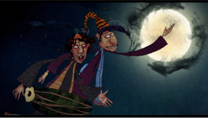 A scene from The World of Goopi and Bagha