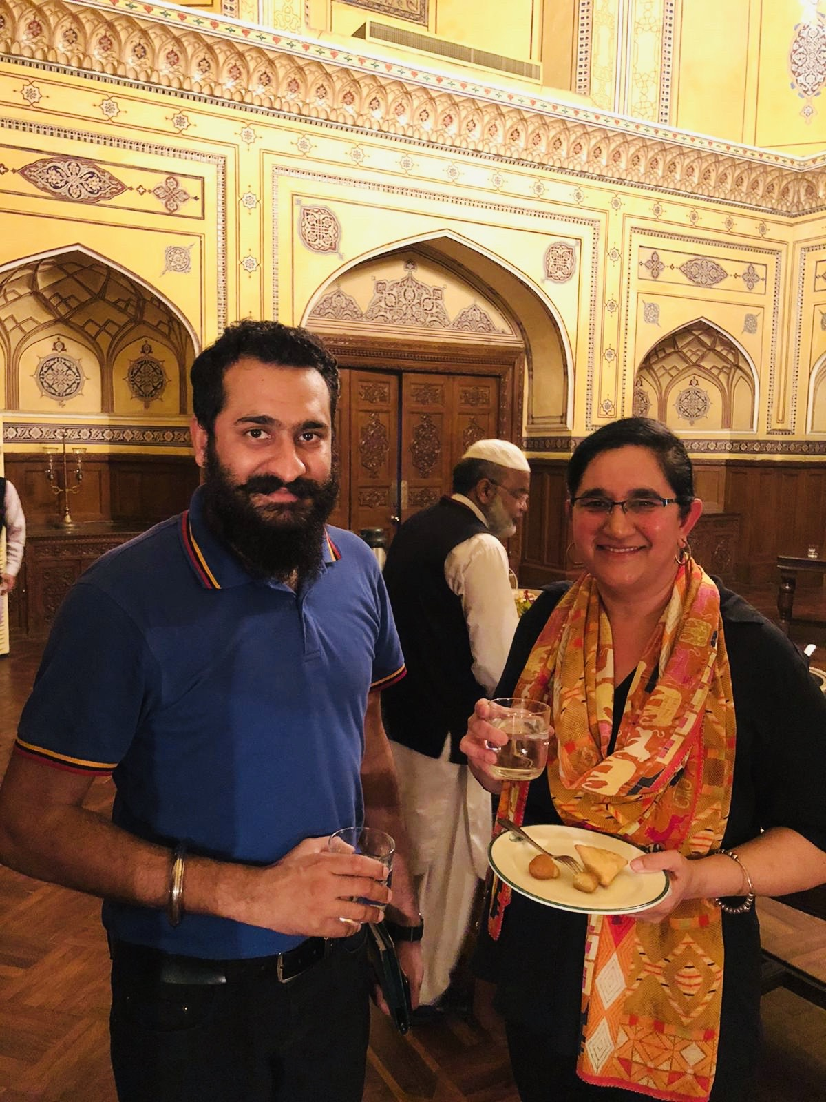 Pawan Singh Arora with Sonia Dhami at Governo House Photo by Devinder Singh