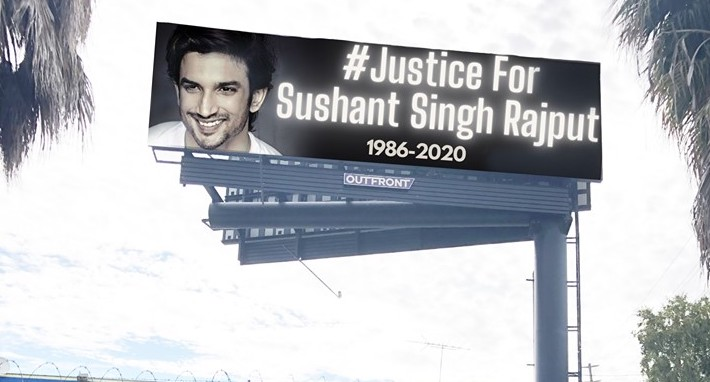US fans of Sushant Singh put up second billboard, vow to fight on - Indica news